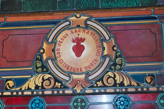 Sacred Heart found in a church in Montauban. Photo: K. Buck