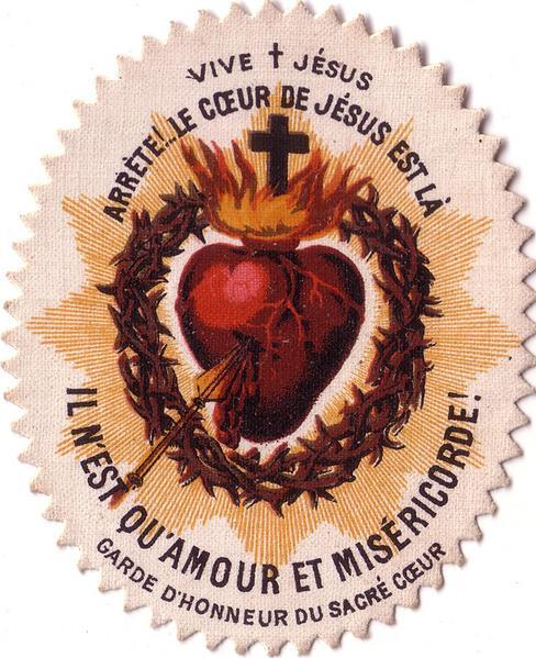 exposition of the image or statue of the sacred heart of jesus