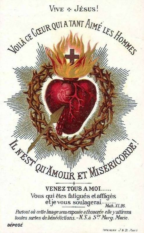 Nineteenth Century Traditional Catholic Iconography of the Sacred Heart